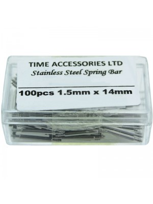 Stainless Steel Spring Bars (1.5mm/14mm) Wholesale