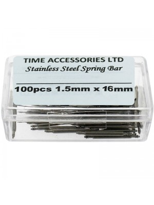 Stainless Steel Spring Bars (1.5mm/16mm) Wholesale