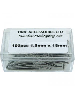 Stainless Steel Spring Bars (1.5mm/18mm) Wholesale