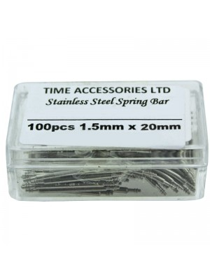 Stainless Steel Spring Bars (1.5mm/20mm) Wholesale