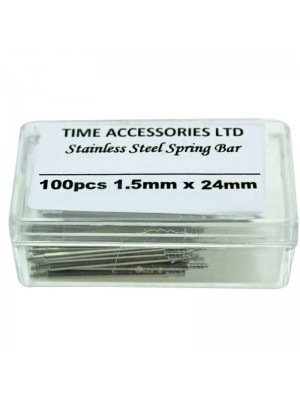 Stainless Steel Spring Bars (1.5mm/24mm) Wholesale