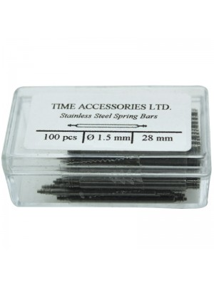 Stainless Steel Spring Bars (1.5mm/28mm) Wholesale