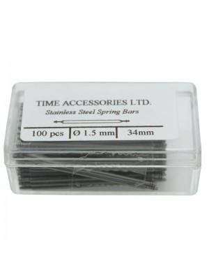 Stainless Steel Spring Bars (1.5mm/34mm) Wholesale