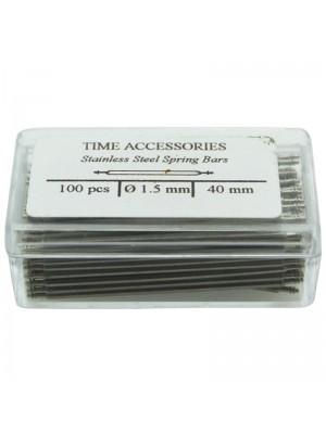 Stainless Steel Spring Bars (1.5mm/40mm) Wholesale