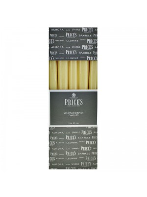 Price's Candles - Venetian Wrapped Dinner Candles (Ivory) Wholesale