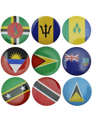 Caribbean Country Badges (Assortment) Wholesale