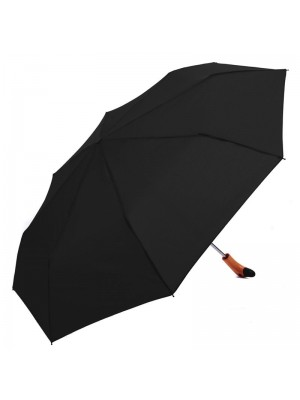 Ladies Wooden Duck Head Handle Compact Umbrella - Black Wholesale