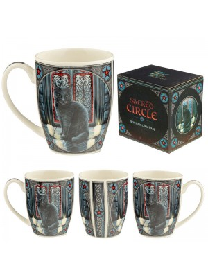Lisa Parker Sacred Circle Cat New Bone China Mug Wholesale