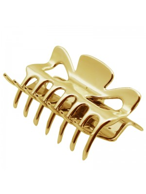 Ladies Plain Clamps (Gold) - 8.5cm
