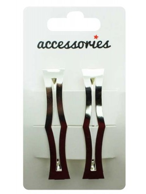 Wholesale Sword Handle Barrette Clip - Silver