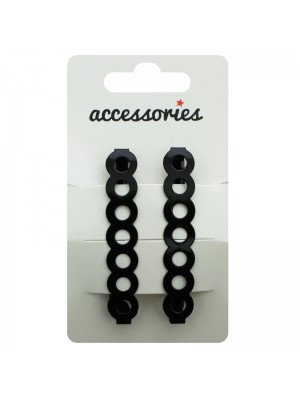 Circle Design Barrette Clip - Black