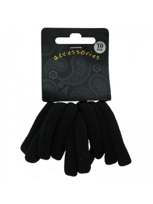 Ribbed Hair Elastics - Black