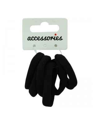 Soft Hair Elastics - Black