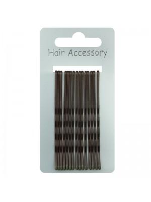 Kirby Hair Grips - Dark Brown (6cm)