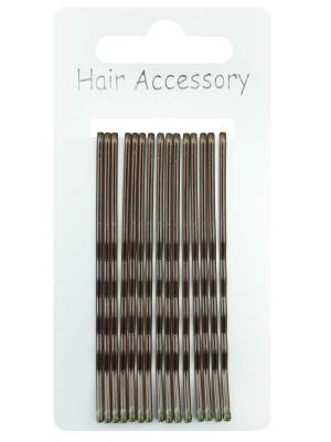 Wholesale Kirby Hair Grips - Dark Brown (6cm)
