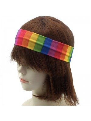 Rainbow Fabric Headbands