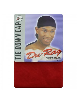 Durag - Tie Down Cap (Red)