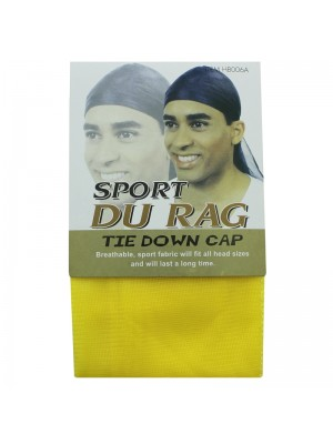 Sport Durags - Tie Down Cap (Yellow)