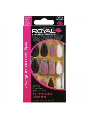 Royal Cosmetics - Glue on Nail Tips (In The Mix Stiletto)