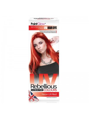 Paint Glow Rebellious UV Reactive Colours - Neon UV Red