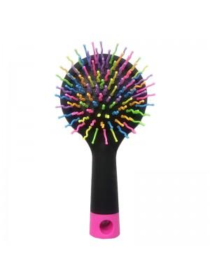 Rainbow Hair Brush with Mirror
