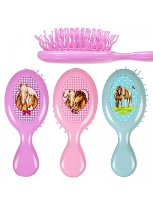 Wholesale Horse Design Hair Brushes (Assorted Colours)