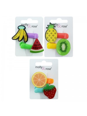 Children's Glitter Fruit Clips (4cm)