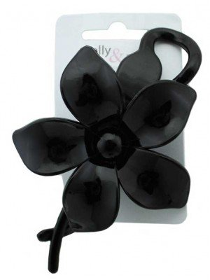 Wholesale Flower Design Clip - Black