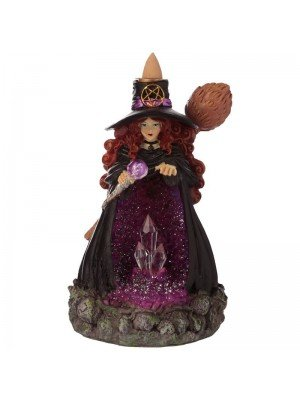 Wholesale Witches Crystal Cave LED Backflow Incense Burner