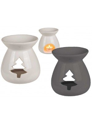 Wholesale Ceramic Oil Burner With Tree Design-Assorted Colours(12 x 12)