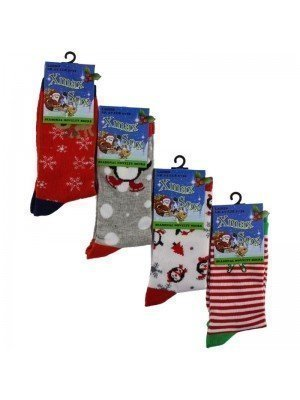 Wholesale Ladies Christmas Novelty Socks (1 Pair Pack) - Asst.