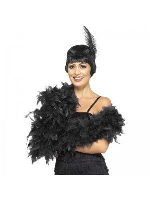 Feather Boa Black Deluxe 180cm Long