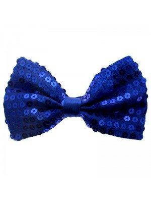 Blue Sequin Bow Tie