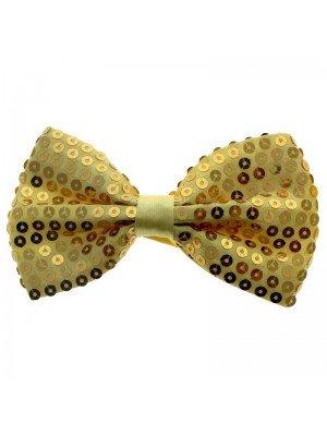 Yellow Sequin Bow Tie