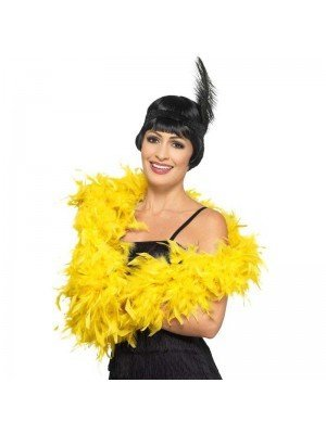 Feather Boa Yellow Deluxe 180cm Long