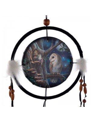 Lisa Parker Owl & Fairy Dreamcatcher - 16cm