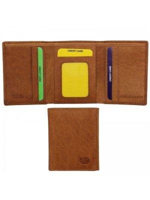 Wholesale Men's Genuine Leather Card Wallet Tan