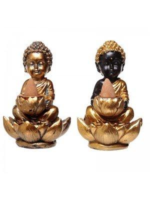 Wholesale Buddha and Lotus Backflow Incense Burner Assortment - 10cm