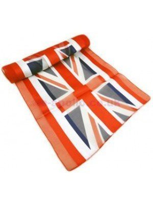 Union Jack Flag Print Satin Stripe Scarves