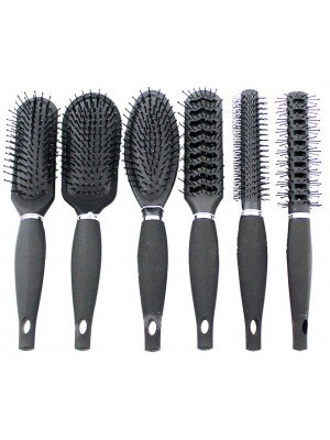 Glamour Studio Black Hair Brushes - Assorted Designs