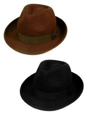 Wholesale Felt Brim Trilby Hat - Assorted Colour & Sizes