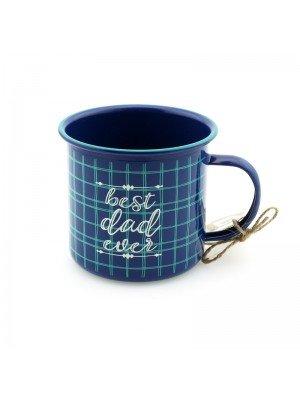 """""""Best Dad Ever"""" Novelty Mug - Blue"""