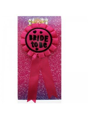'Bride To Be' Badge Brooch Rosette
