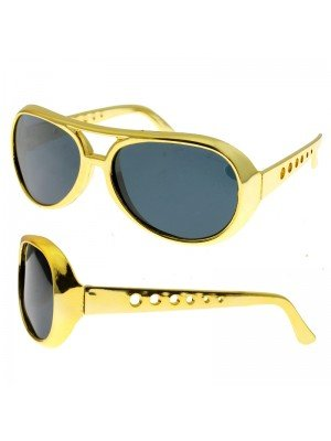 'Gafas King Rock' Party Sunglasses - Gold