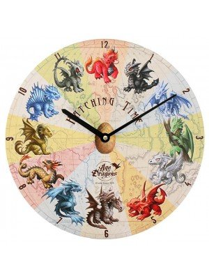 'Hatching Time' Dragon Novelty Wall Clock