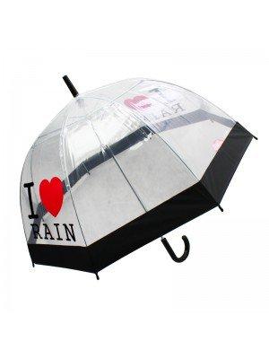 Wholesale 'I Love Rain' Dome Umbrellas