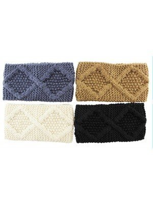 Knitted Wool Headbands 10cm Wide-Assorted Colours