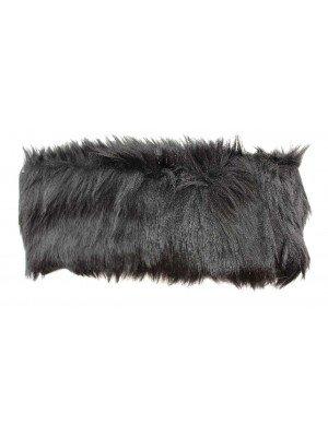 Ladies Soft Faux Fur Fabric Headband Black Colour-10cm