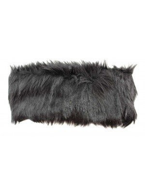Soft Faux Fur Fabric Headband - Black
