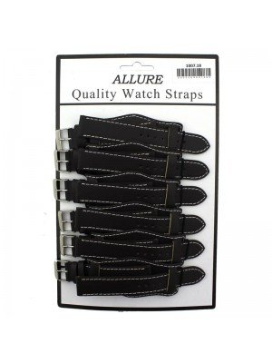 Wholesale Allure Leather Watch Straps With Pad - Brown - 18mm